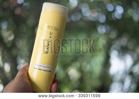 Bangkok, Thailand - December 13 2019: Souvenir From Friend Of Milk Tea (earl Grey Milk Tea) In Plast
