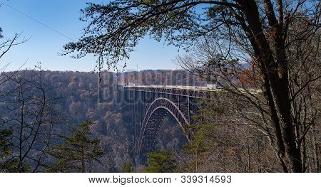 The New River Gorge Bridge In Fayetteville West Virginia