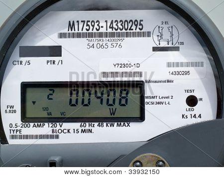 Pantalla LCD del medidor de suministro de potencia de red inteligente