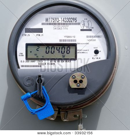 Smart grid residentiële digitale levering Energiemeter