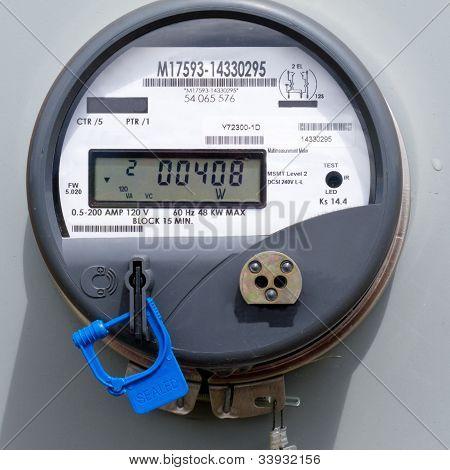 Medidor de suministro de potencia digital residencial de Smart grid