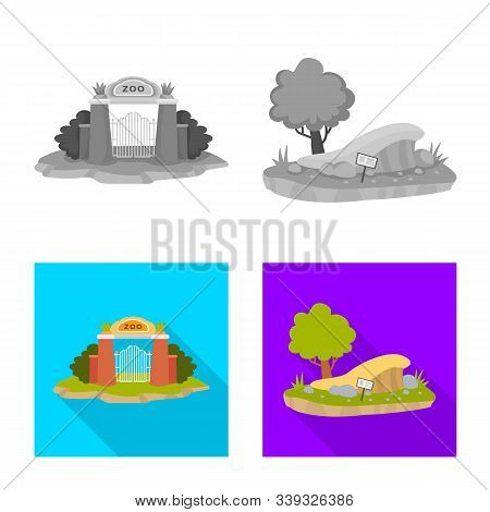 Vector Illustration Of Nature And Fun Sign. Collection Of Nature And Entertainment Stock Symbol For