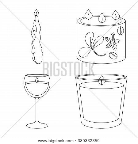 Vector Illustration Of Source And Ceremony Icon. Collection Of Source And Fire Stock Vector Illustra