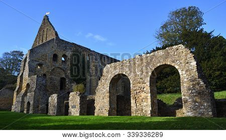 Battle, East Sussex, England -  October 20, 2017:  Battle Abbey East Sussex Built  On The Site Of Th