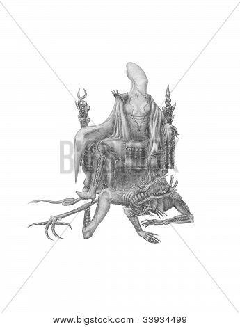 Alien On A Throne