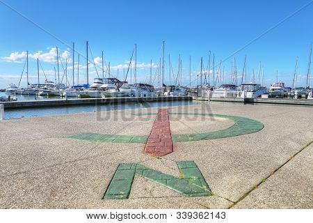 Oakville, Ontario/canada - June 24: A View Of The Marina In Oakville In Ontario, Canada, On [june 24