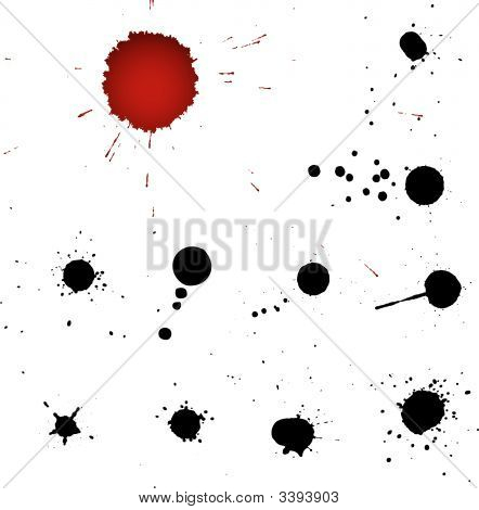 Blood Drops Vector Silhouettes