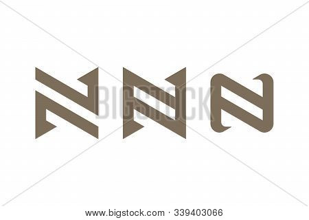 Letters N On White Background. Abstract Business Logo Design.