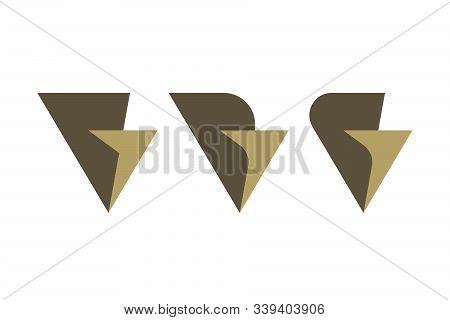 Overlapping Letter V And G Icons On White Background. Luxury Business Logo Designs.