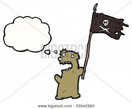 cartoon pirate teddy bear poster