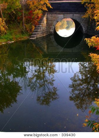 Circle Bridge In Fall