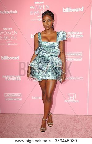 Justine Skye at the 2019 Billboard Women In Music held at the Hollywood Palladium in Hollywood, USA on December 12, 2019.