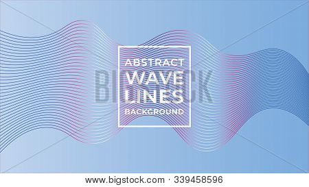 Abstract Wave Line Background Design Template, Abstract Blend Design Vector, Beautiful Background Te