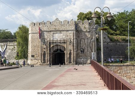 Nis, Serbia - June 15, 2019:  Outside View Of Fortress And Stambol (istanbul) Gate In City Of Nis, S