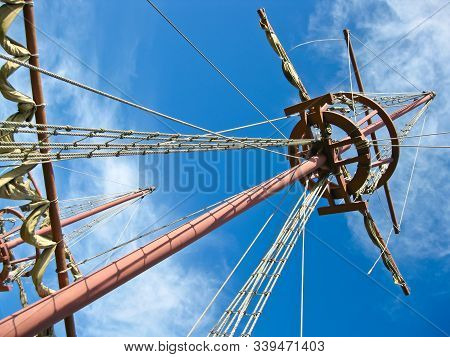 Mainmast Of A Spanish Galleon, With His Scales And Sails