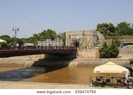 Nis, Serbia - June 08, 2019: The Istanbul Or Stambol Gate, The Main Entrance To The Nis Fortress In