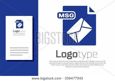 Blue Msg File Document. Download Msg Button Icon Isolated On White Background. Msg File Symbol. Logo