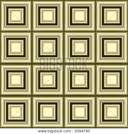 Seamless wallpaper of golden square frames with depth and metallic sheen poster