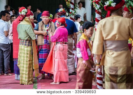 Chiang Mai, Thailand - June 20, 2019 : Spirit Dance (fon Phee) The Soul Of Lanna People In The North
