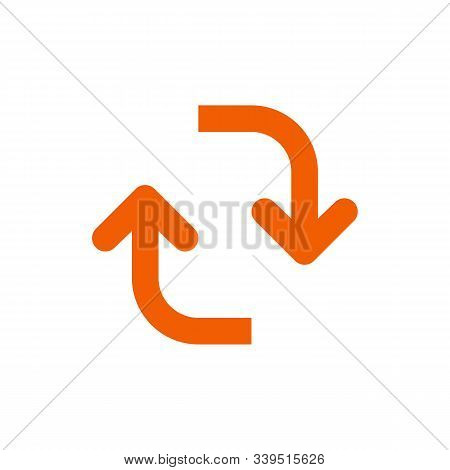 Reverse Isolated Icon. Simple Element Illustration From Geometry Concept. Reverse Editable Logo Symb