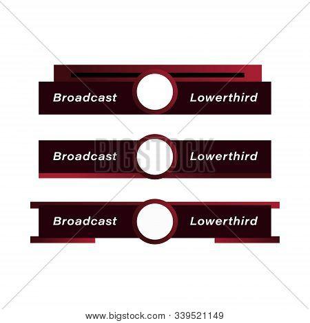 Broadcast Vectors Design. Gradient Broadcast Lower Third Design. Amazing Broadcast Design Element