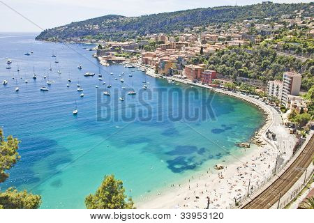 Aerial view of the coast in Eze south of France poster