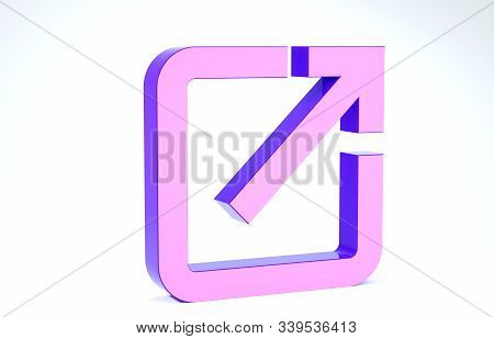 Purple Open In New Window Icon Isolated On White Background. Open Another Tab Button Sign. Browser F