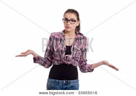 Teen Girl Wondering