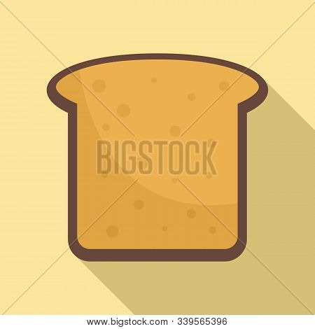 Toast Icon. Flat Illustration Of Toast Vector Icon For Web Design