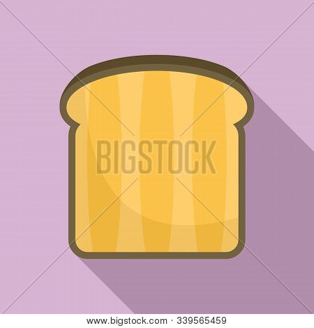 Bread Toast Icon. Flat Illustration Of Bread Toast Vector Icon For Web Design
