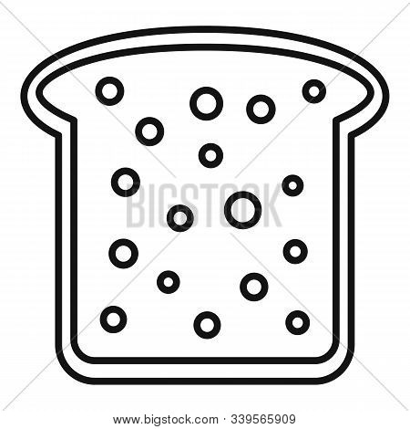 Toast Icon. Outline Toast Vector Icon For Web Design Isolated On White Background