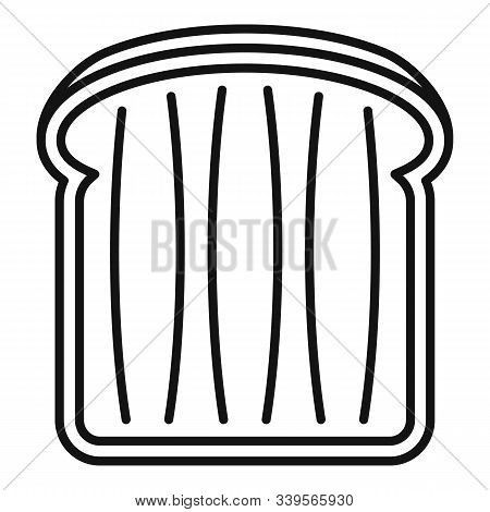 Bread Toast Icon. Outline Bread Toast Vector Icon For Web Design Isolated On White Background