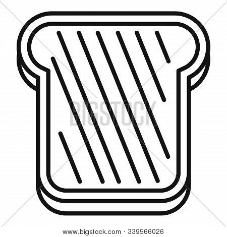 Bake Toast Icon. Outline Bake Toast Vector Icon For Web Design Isolated On White Background
