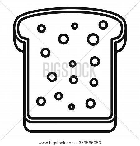 Tasty Toast Icon. Outline Tasty Toast Vector Icon For Web Design Isolated On White Background