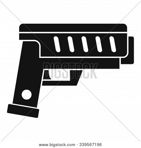 Combat Blaster Icon. Simple Illustration Of Combat Blaster Vector Icon For Web Design Isolated On Wh
