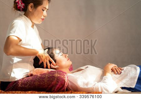 Asian Old Massager, Thai Massage And Spa For Healing And Relaxation