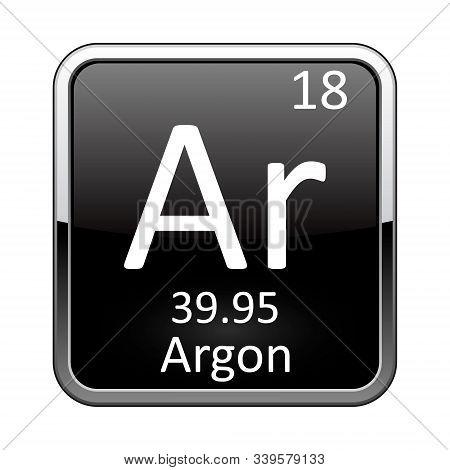 The Periodic Table Element Argon. Vector Illustration