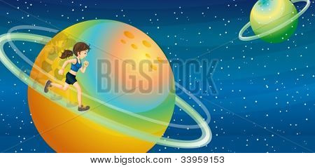 Illustration of planets in space