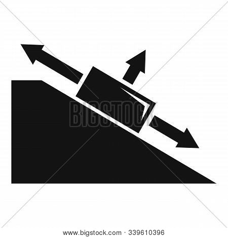 Angle Object Physics Icon. Simple Illustration Of Angle Object Physics Vector Icon For Web Design Is