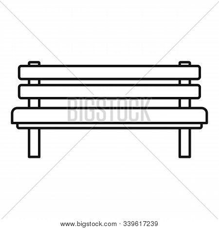 Settle Bench Icon. Outline Settle Bench Vector Icon For Web Design Isolated On White Background
