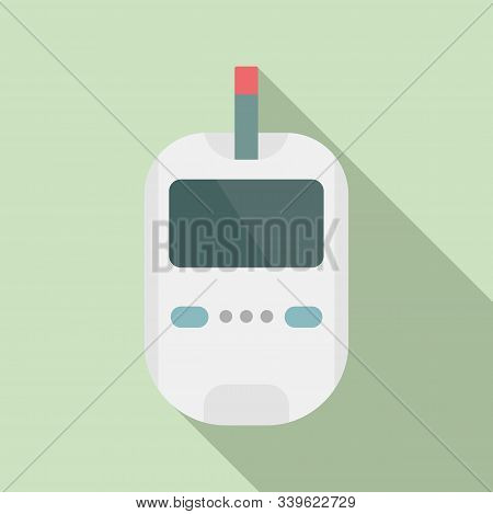 Glucose Meter Icon. Flat Illustration Of Glucose Meter Vector Icon For Web Design