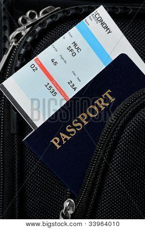 Pasport In Suitcase