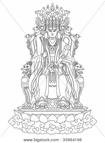 Golden Mother is a Taoism Goddess, also known as Western Queen. poster