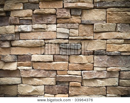Textrue Of Old Rectangle Stone Wall