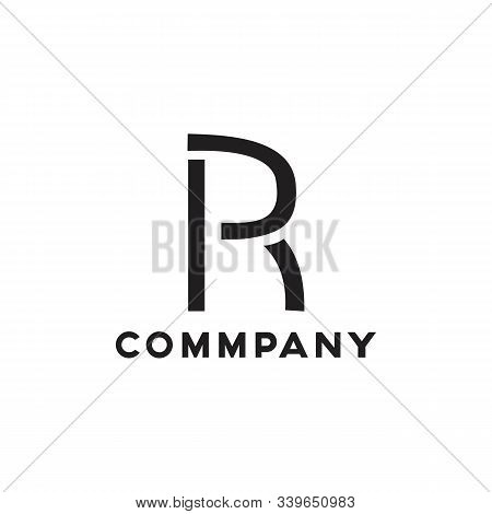 Pr Logo Simple And Minimalist Templates Design