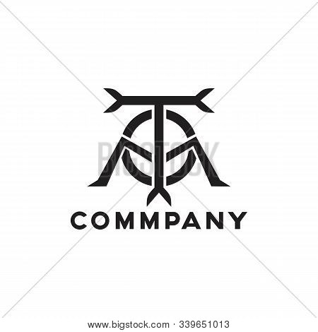 Tom Logo Simple And Minimalist Vector Black