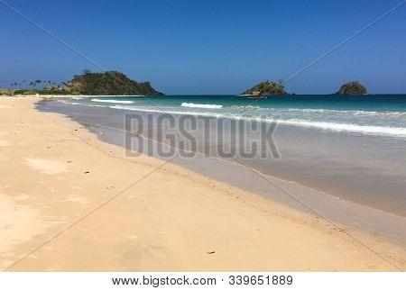 Beautiful Blue Sea On Coron Island, Philippines