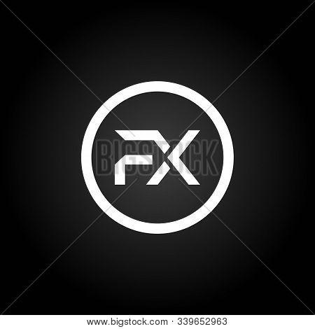 Initial Fx Letter Linked Logo. Creative Letter Fx Modern Business Logo Vector Template. Initial Fx L
