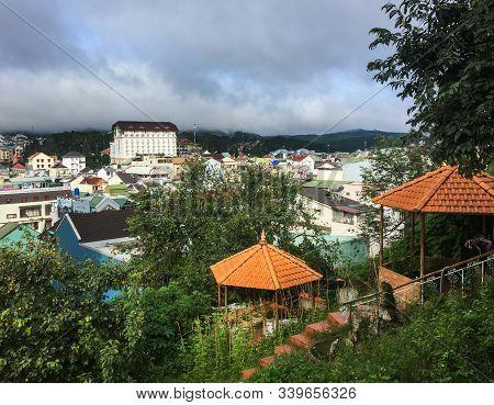 Dalat, Vietnam - Sep 14, 2018. Aerial View Of Dalat, Vietnam. Dalat Is The Best Destination And Loca