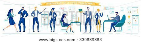 Business Team Or Company Staff - Managers, Superiors And Ordinary Employees Working In Office. Busin